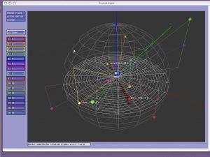 Plotting a soundscape using 3D AudioScape modelling software.